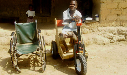 Zoegar's old wheelchair and PET