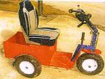 Early prototype with car-like seat