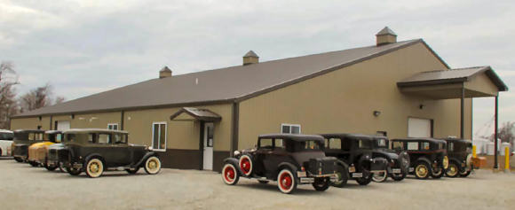 A local antique car club recently visited the PET shop in DeMotte, IN showing off another kind of mobility.