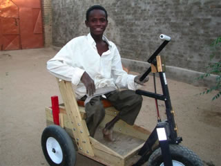This young man is Abdoulaye, polio victim. Nov. 2008
