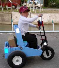 a 10 year old boy who has not been able to walk since he was two years old