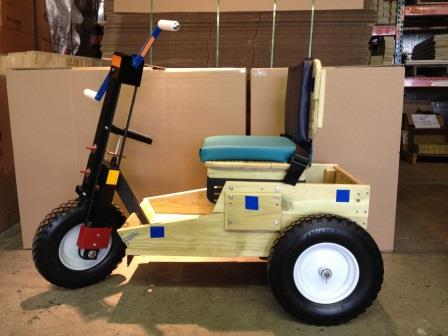Adult crank Mobility Cart with new seat design 2013