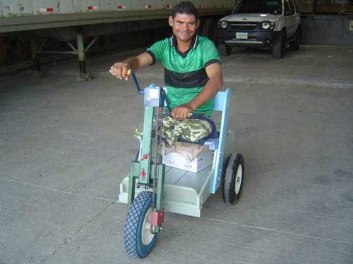 Eugenio Lara with PET vehicle